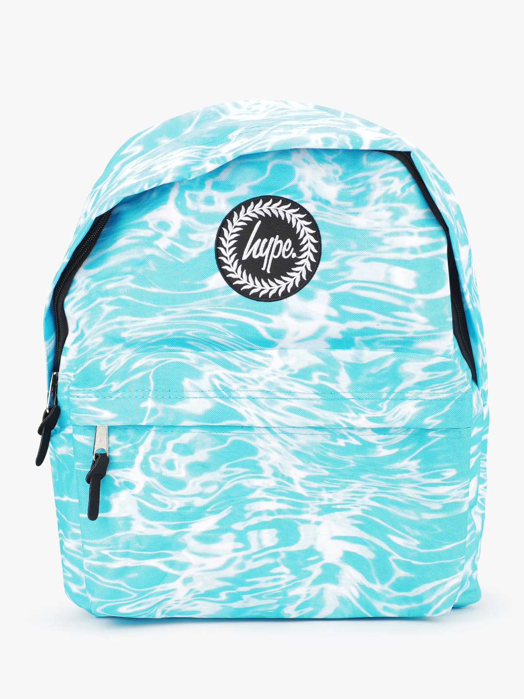 Hype Blue Liquid Marble Backpack 1