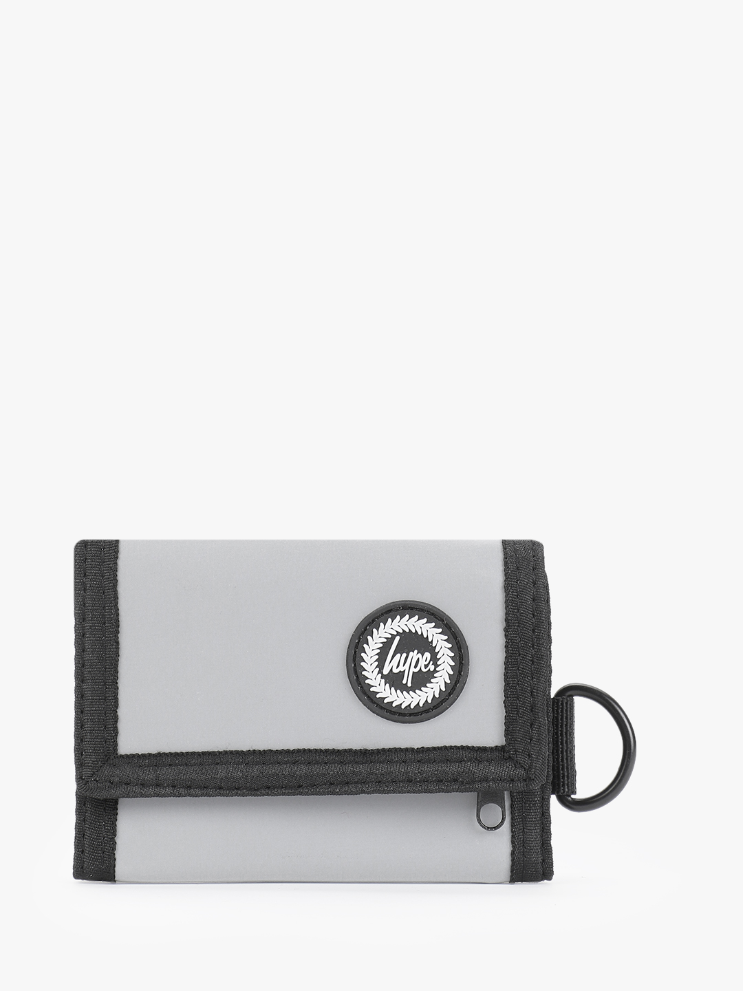 Hype Grey Reflective Embossed Logo Trifold Wallet 1