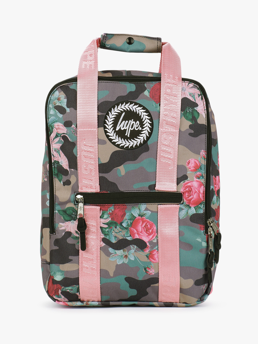 Hype Multi Camo Floral Boxy Backpack 1