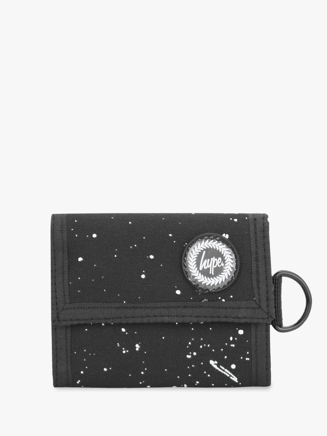 Hype Black Speckled Trifold Wallet 1