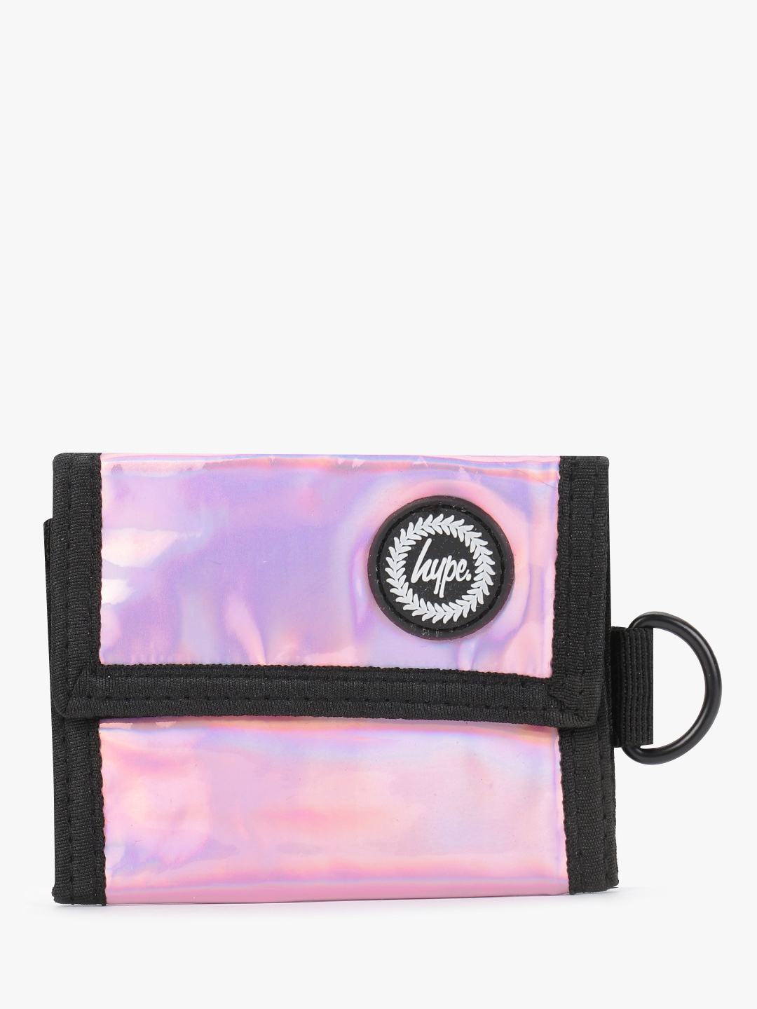 Hype Pink Holographic Trifold Wallet 1