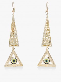 Blueberry Evil Eye Geometric Earrings