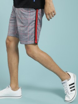 Soulstar Glen Check Side Tape Shorts