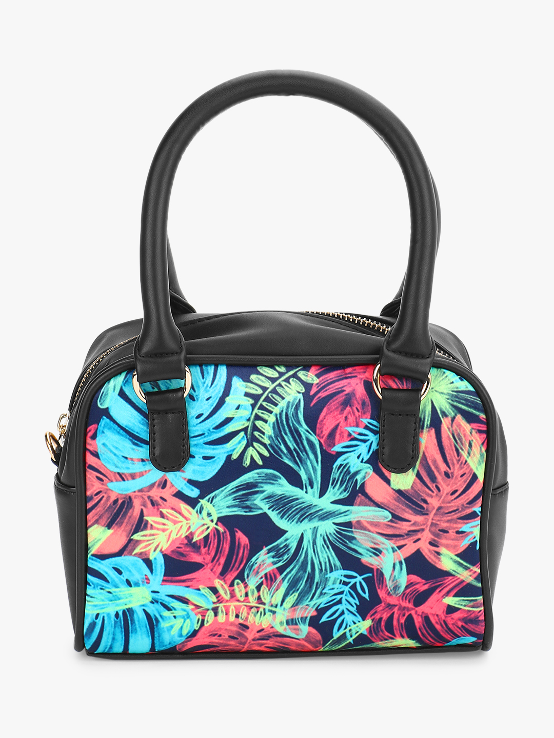 Gusto Multi Tropical Print Mini Handbag 1