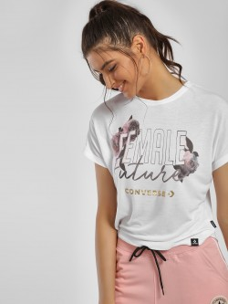 Converse Female Future Rose Print T-Shirt