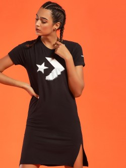 Converse Rubberised Logo Print T-Shirt Dress
