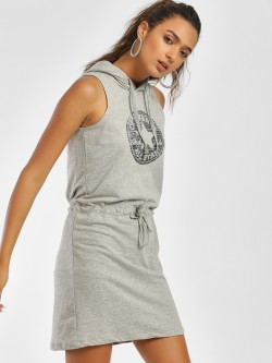 Converse Metallic Star Logo Hoodie Dress