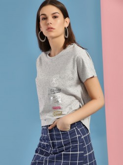 Converse Patchwork High-Low Slub T-Shirt