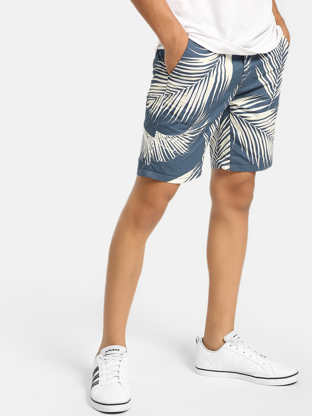 D-Struct Navy Tropical Print Shorts 1