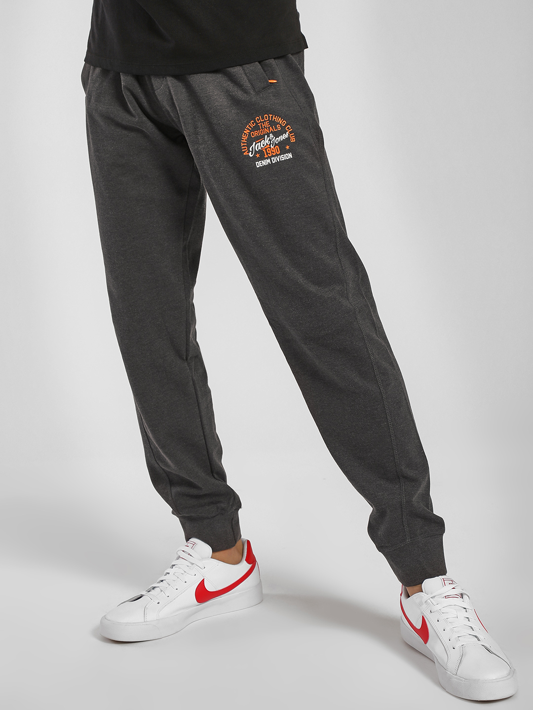 Jack & Jones Grey Knitted Joggers 1