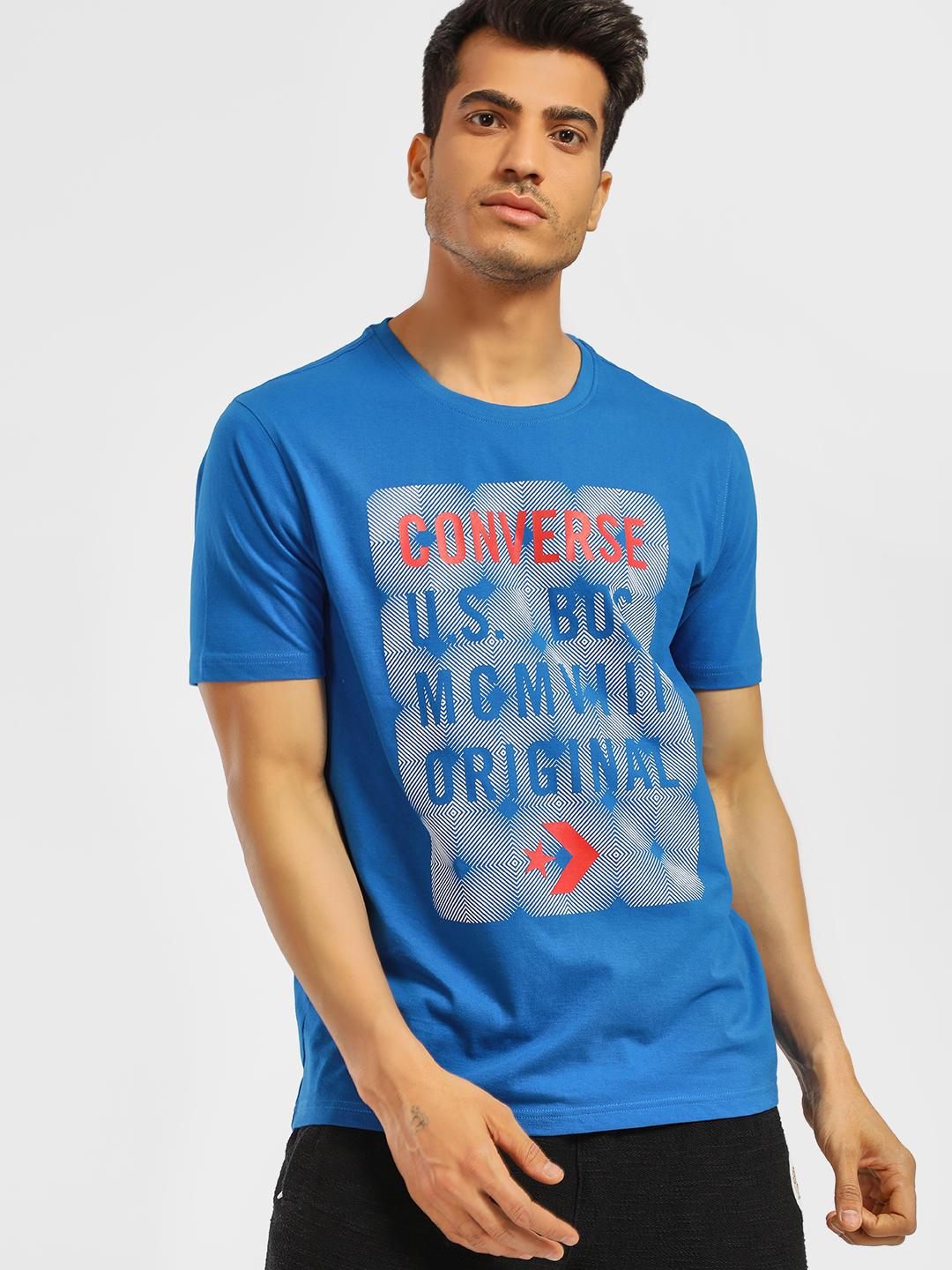 Converse Blue Graphic Placement Print T-Shirt 1