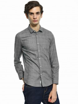Indigo Nation Windowpane Check Formal Smart Shirt