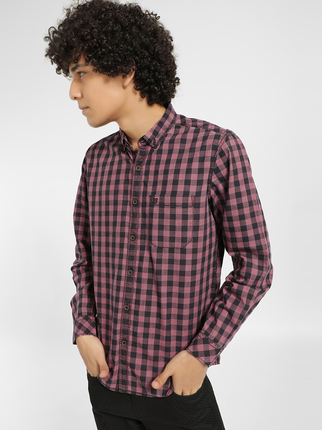 Indigo Nation Black Buffalo Check Slim Fit Casual Shirt 1