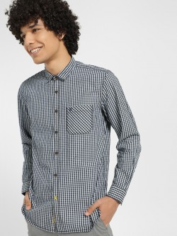 Indigo Nation Gingham Check Slim Shirt