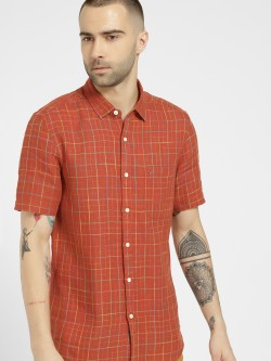 Indigo Nation Grid Check Slim Fit Casual Shirt