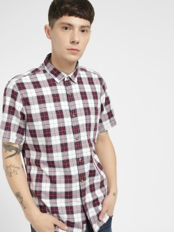 Indigo Nation Multi-Check Short Sleeve Casual Shirt
