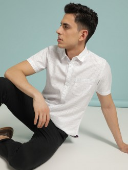 SCULLERS Circle Print Oxford Shirt