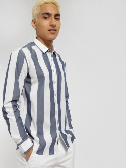 SCULLERS Long Sleeve Stripe Shirt