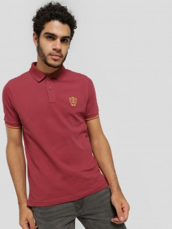 SCULLERS Woven Collar Polo Shirt