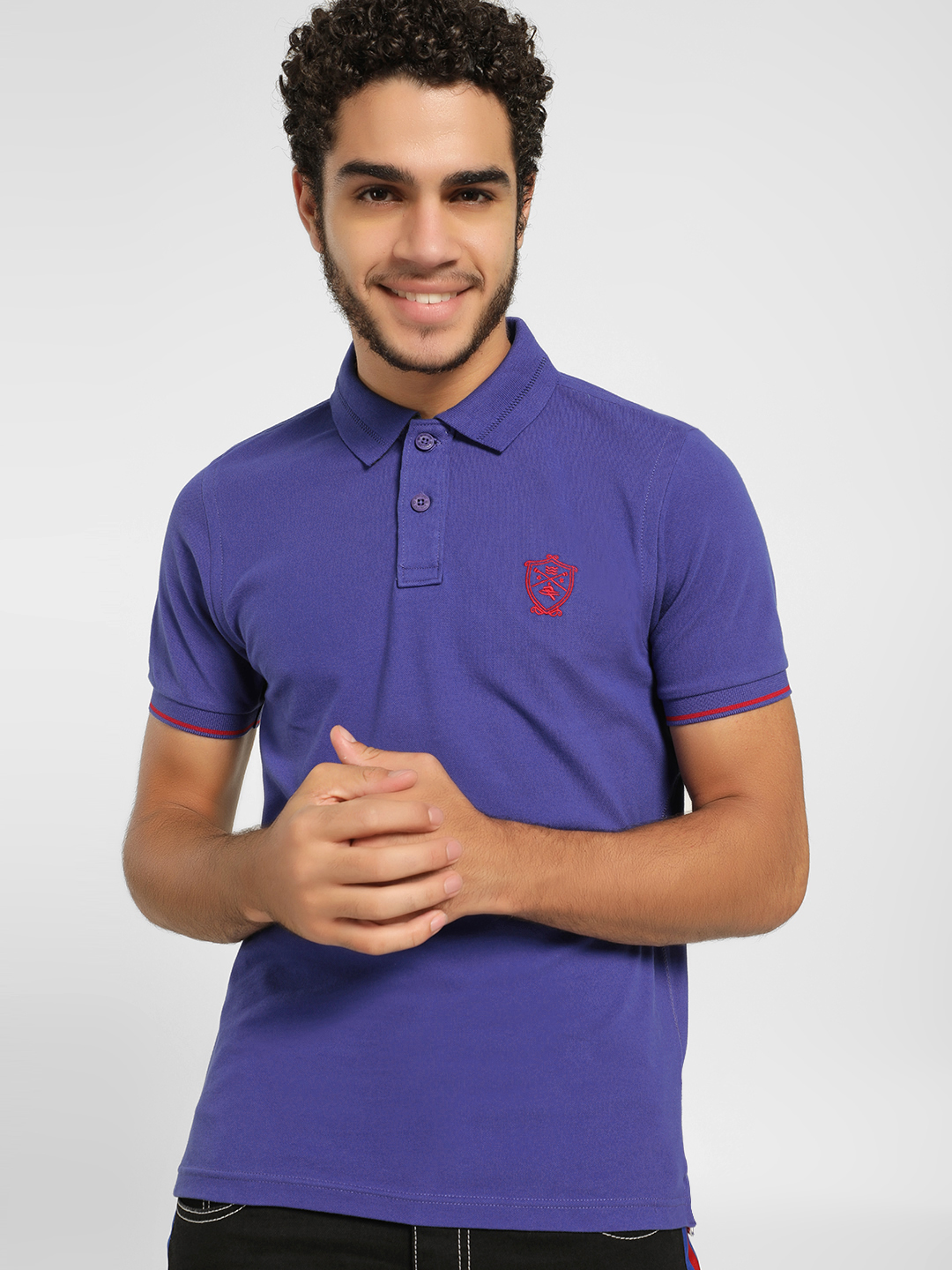 SCULLERS Blue Basic Polo Shirt 1