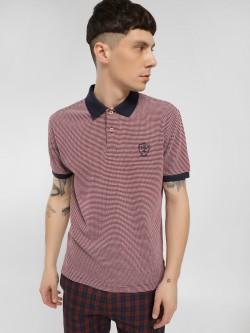 SCULLERS Textured Short Sleeve Polo Shirt