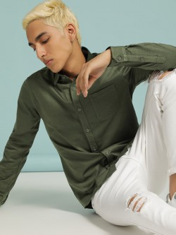 SCULLERS Textured Slim Fit Shirt