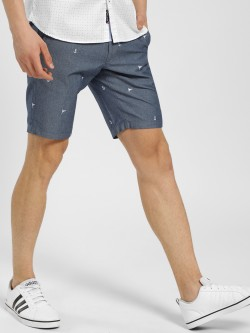 SCULLERS Flag & Anchor Embroidered Shorts