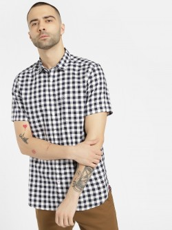 SCULLERS Short Sleeve Gingham Check Shirt