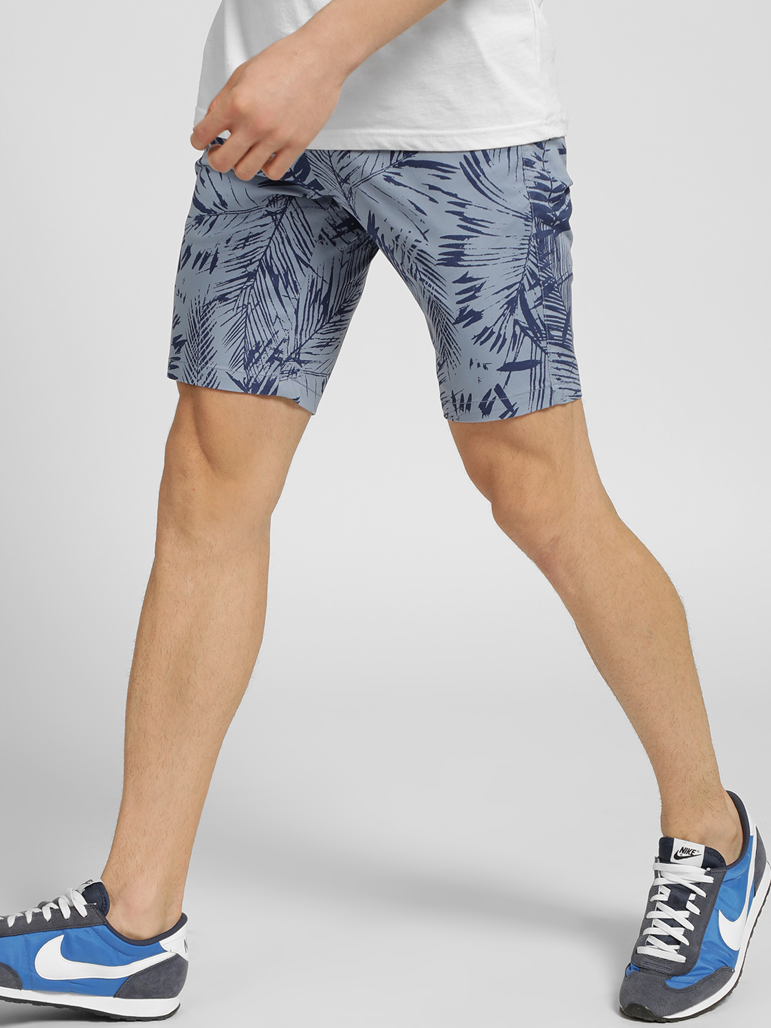 SCULLERS Blue Tropical Palm Print Shorts 1