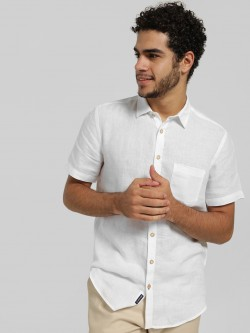 SCULLERS Linen Short Sleeve Shirt