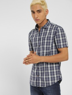 SCULLERS Multi-Check Print Casual Shirt