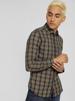 SCULLERS Multi-Check Slim Shirt