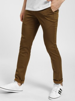 SCULLERS Textured Slim Fit Trousers