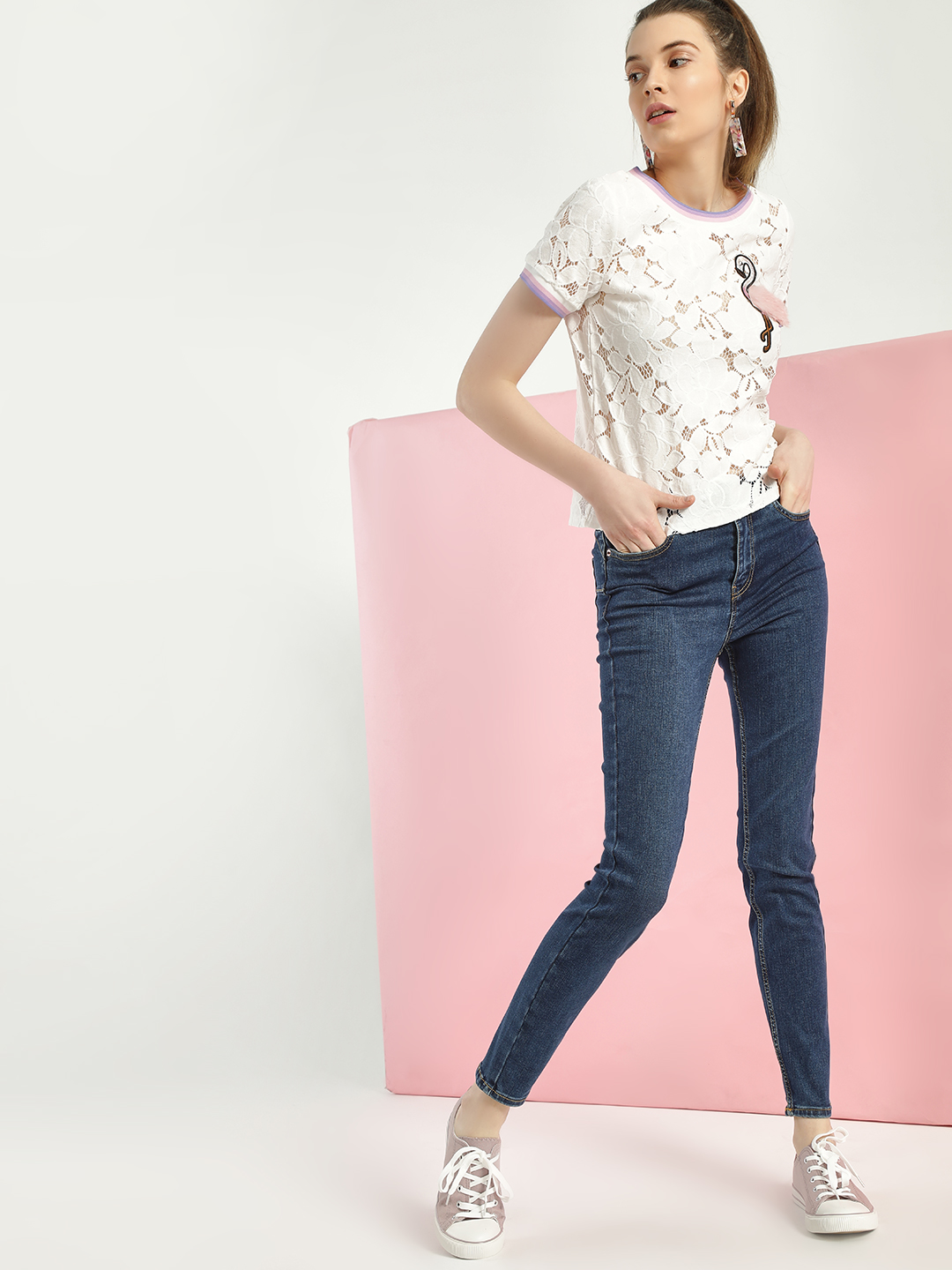 New Look Blue Basic Skinny Fit Jeans 1