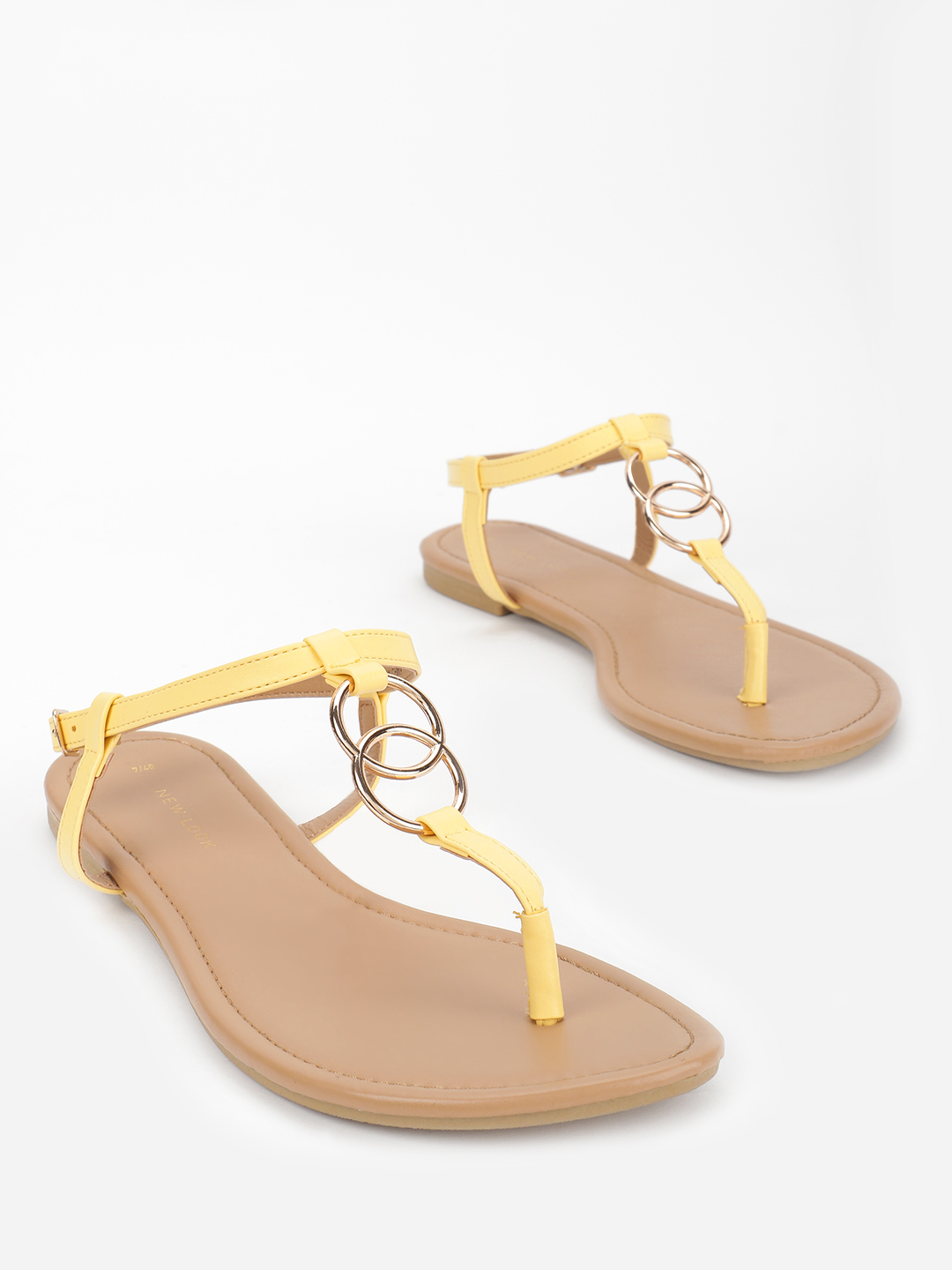 New Look Yellow Ring Strap Flat Sandals 1