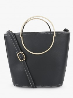 New Look Round Handle Bucket Sling Bag