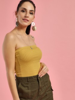 New Look Ribbed & Cropped Bandeau Top