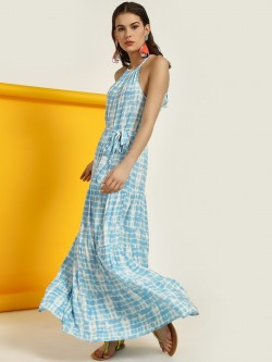 New Look Tie Dye Halter Maxi Dress