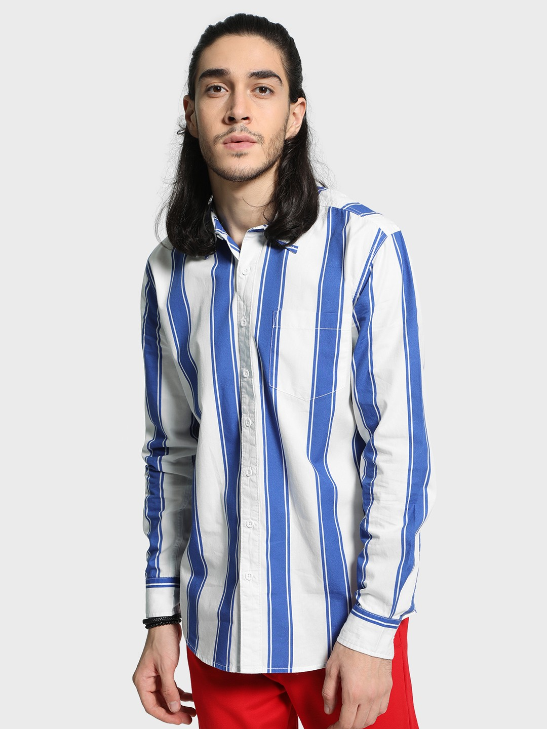 Blue Saint Multi Macro Vertical Stripe Shirt 1