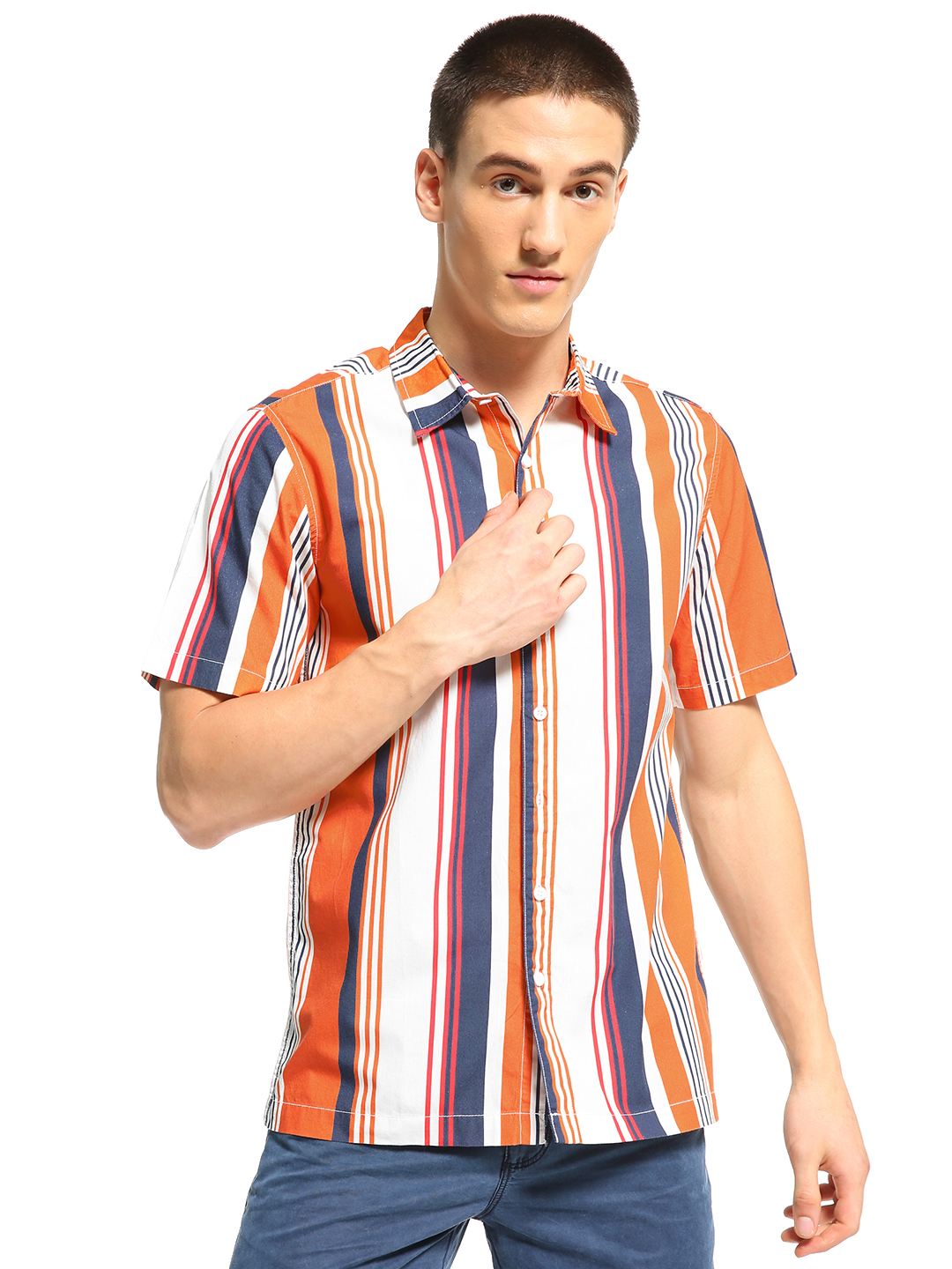 Blue Saint Multi Colour Block Stripe Shirt 1