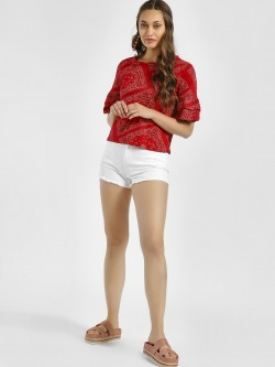 HEY Distressed Frayed Hem Denim Shorts