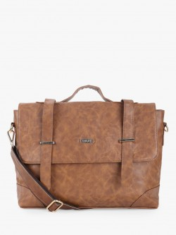 STRUTT Double Buckle Strap Laptop Bag