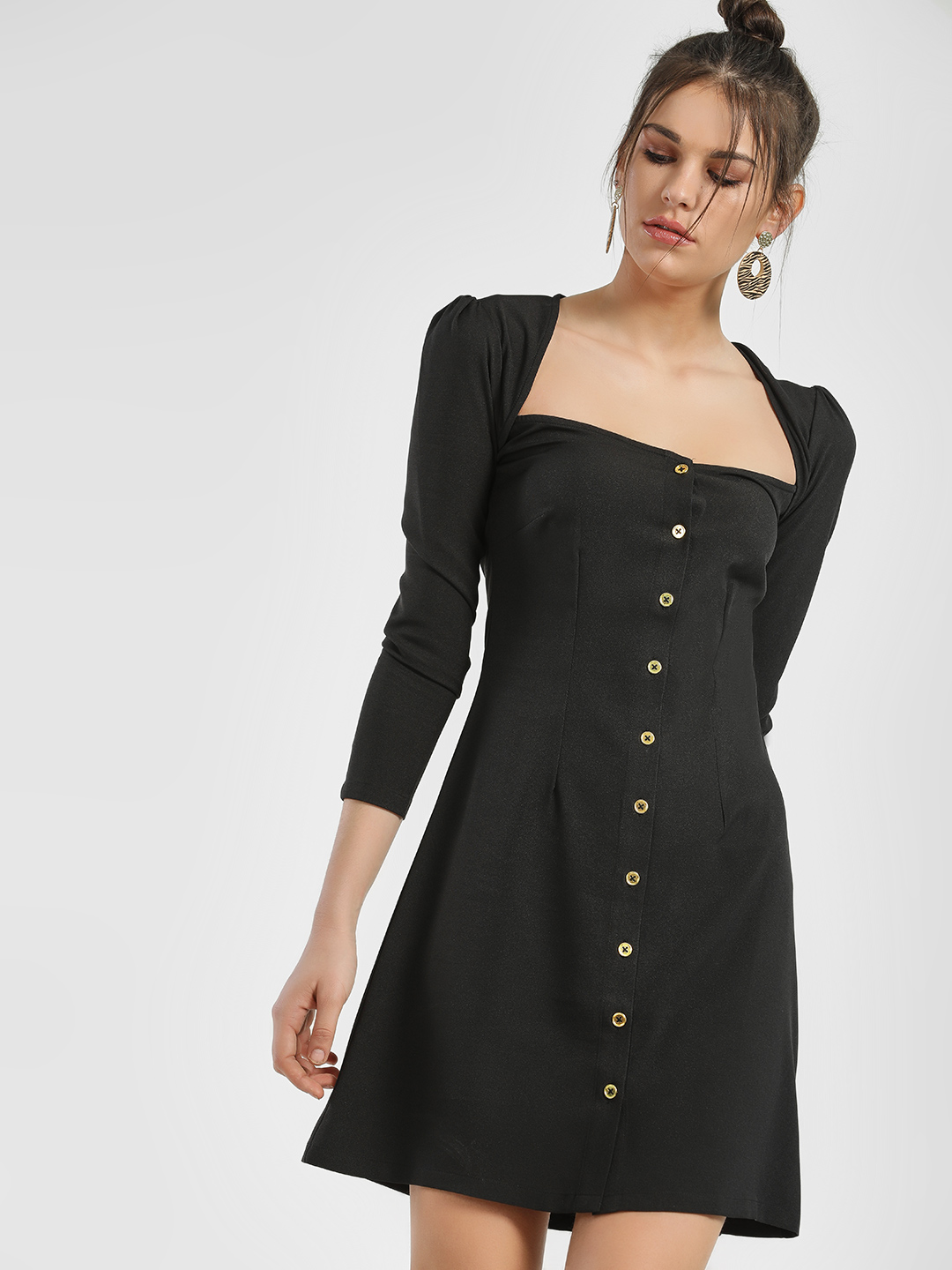 Ri-Dress Black RI DRESS Back Cut Out Shift Dress 1