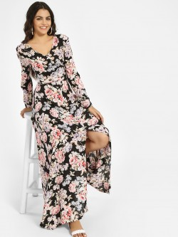 Ri-Dress Cut-Out Back Floral Print Maxi Dress