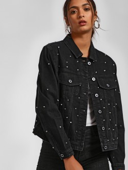 LOVEGEN All Over Studded Denim Jacket
