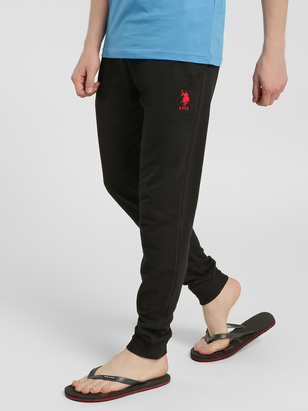 US. Polo. Assn. Black Basic Knitted Joggers 1