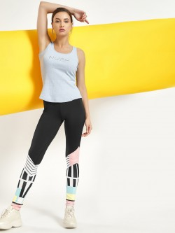 NUSH Colour Block Print Leggings