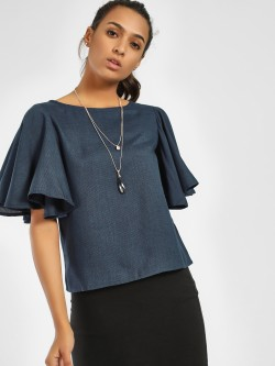 NUSH Short Flared Sleeve Blouse
