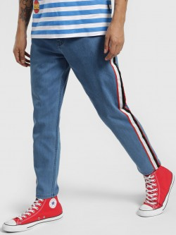 K Denim KOOVS Contrast Side Tape Slim Jeans