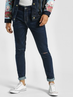 K Denim KOOVS Ripped Knee Skinny Jeans